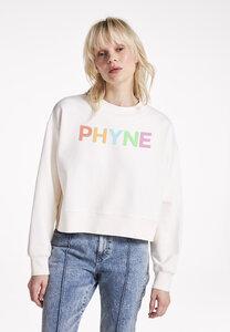 The Cropped Sweater PHYNE, GOTS, mit Rundhals Ausschnitt - PHYNE