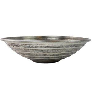 Dekoschale aus Metall Linien 32cm - Mitienda Shop