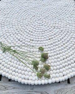Runder Teppich aus reiner Wolle 150 cm - Snowdrop Rugs - CARE BY ME