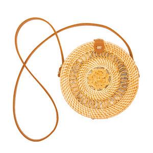 "Damen Tasche Rattan Korbtasche Basttasche | seasara ""made by Ibu Heri"" Gendit 20 cm - seasara"