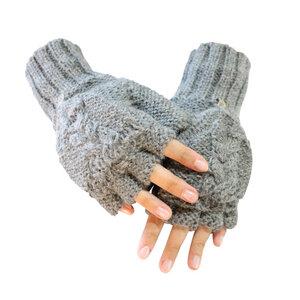 Sydney Halbfingerhandschuhe aus 100% Alpaka FS One Size Größe S-XL - AlpacaOne