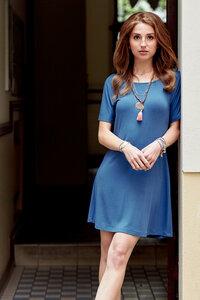 Damen Shirtkleid Gisele aus Modal - l'amour est bleu