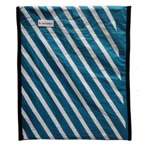 Handgearbeitete Notebook-Tasche / Hülle aus Segeltuch Kitesegel UNIKAT 16,3 Zoll - Beachbreak
