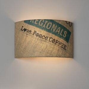 Wandleuchte Perlbohne N°79 aus Kaffeesack - lumbono