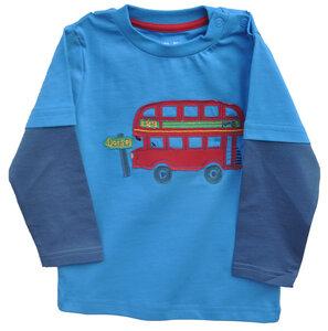 Baby Kleinkinder Langarmshirt Jungen Applikation Bus aus 100% Baumwolle (bio) - Kite Clothing