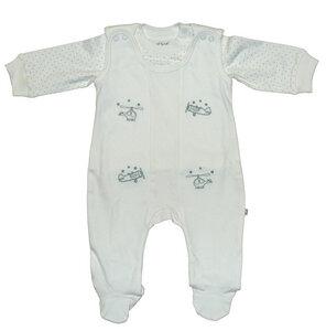 Set 2 teilig Baby Strampler mit Fuß und Mütze Baby Jungen 100% Baumwolle (bio) - Ebi & Ebi Naturel Line