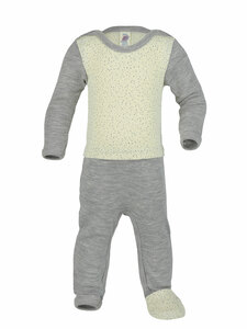 Engel Natur Baby Schlaf-Overall Bio-Wolle/Seide - Engel natur