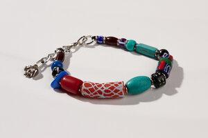 "Armband aus afrikanischen Perlen ""MAIDUGURI mit Verschluss"" - PEARLS OF AFRICA"