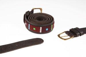"Ledergürtel Massai  ""Asante"", Unisex, handgearbeitet aus Kenia. - Africulture"