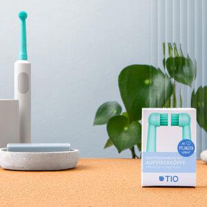 Nachhaltige Aufsteckköpfe für Elektrozahnbürsten – Tiomatik  - TIO