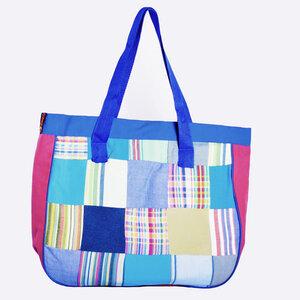 Kikoy Handtasche, Patschwork Tasche, Strandtasche, Planenstoff Innenlayer, made in Kenia - Africulture