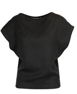 Shirt mit Spitzeneinsatz - Lasalina - LASALINA
