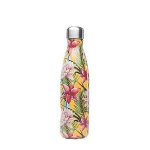 Isolierte Edelstahlflasche 500ml - Tropische Blumen - Qwetch