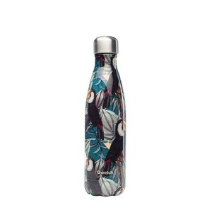 Isolierte Edelstahlflasche 500ml - Tropischer Tukan - Qwetch