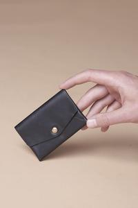 ORIGAMI WALLET \\ Kleines Leder Portemonnaie Mini Wallet Olivenleder - NOY
