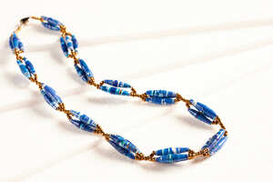 """Einzigartige Halskette aus Papierperlen """"SENTA"""" - PEARLS OF AFRICA"""