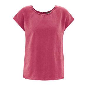 HempAge Damen klasssische Kurzarm-Bluse aus reinem Hanf - HempAge