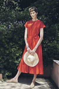 Dress Nina Red - Damenkleid aus Bio-Baumwolle - Sophia Schneider-Esleben