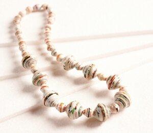"""Halskette aus Papierperlen """"MASSAI"""" - PEARLS OF AFRICA"""