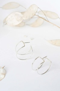 Silber Ohrringe -  Statement Curved Rectangle Hoops - aus recyceltem 925 Silber - Wild Fawn Jewellery
