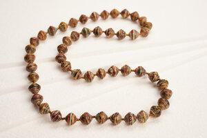 Lange Halskette aus Papierperlen ACHOLI COCO - PEARLS OF AFRICA