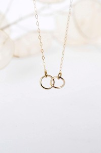 Halskette Gold Connected Circle 9ct Gelbgold - Wild Fawn Jewellery