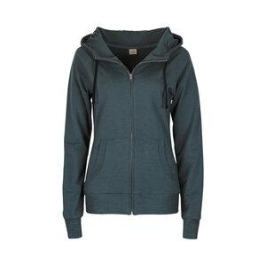 JACKIE MELANGE - Damen - Jacke mit Kapuze für Yoga und Freizeit aus Biobaumwolle - Jaya