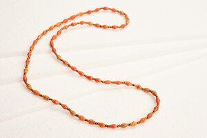 "Lange Halskette aus filigranen Papierperlen ""ACHOLI MALAIKA"" - PEARLS OF AFRICA"