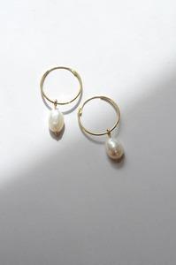 Perlohrringe - Gold Hoop & Pearl - 9ct Gold - Wild Fawn Jewellery