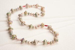"Halskette aus Papierperlen ""MUZUNGO LONG"" - PEARLS OF AFRICA"