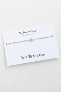 Armband »Stern« | inkl. Frohe Weihnachten Karte - Oh Bracelet Berlin