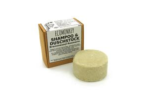ECOMONKEY® 2in1 festes Shampoo-Duschstück   Biologisch abbaubar   aus natürlichen Zutaten   Brennessel-Rosmarin - ECOMONKEY