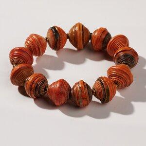 """Armband aus großen Papierperlen """"MARA"""" recycelt - PEARLS OF AFRICA"""