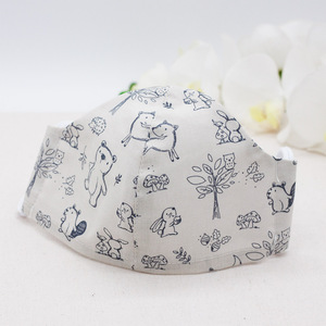 Waschbare Behelfsmaske aus Bio-Baumwolle; Atmungsaktiv - OrganicMom®