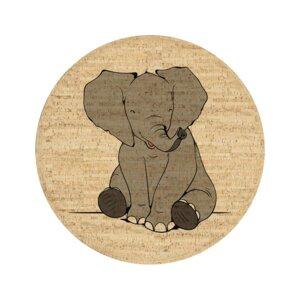 Korkteppich rund Noah der Elefant - Corkando-KIDS