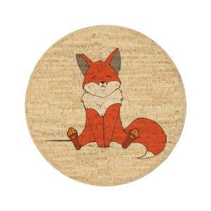Korkteppich rund Robin der Fuchs - Corkando-KIDS