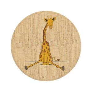 Korkteppich rund Sidney die Giraffe - Corkando-KIDS