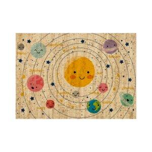 Korkteppich eckig Solar System - Corkando-KIDS