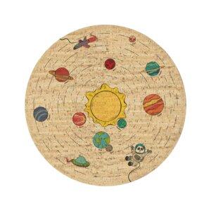 Korkteppich rund Space Trip - Corkando-KIDS