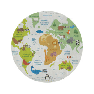 Korkteppich Spielteppich rund Welt - Corkando-KIDS
