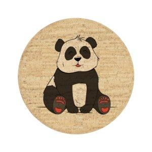 Korkteppich rund Yuki der Panda - Corkando-KIDS