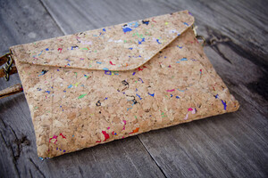 Handtasche -Vegan, Brieftasche aus recyceltem Kork (farbigen Akzenten) - BY COPALA