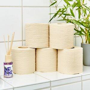 nachhaltiges Toilettenpapier aus 100% Bambus   16 oder 24 Rollen á 200 Blatt - 3 lagig sanft trocken & angenehm weich - Bambuswald