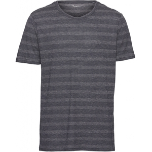 Knowledge Cotton Apparel - T-Shirt alder Striped Hemp - Knowledge Cotton Apparel