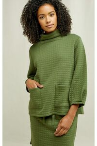 Pullover - Jane Quilted Top - People Tree