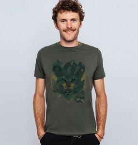 """Herren T-Shirt aus Bio-Baumwolle """"Mountain Lion"""" in Blau oder Grau - BeMoreMaverick"""