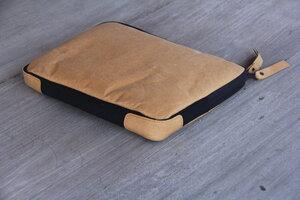 Kraft Papier Laptop Case 12 Zoll, MacBook Hülle, Tasche,Lederoptik - BY COPALA