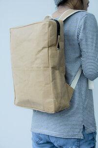Rucksack aus nachhaltigem Kraft Papier - Lederoptik, waschbar - BY COPALA