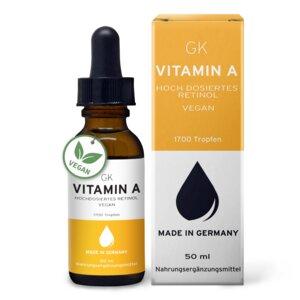 Vitamin A Tropfen hochdosiert - 50ml - GK Nutrition