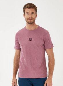 T-Shirt aus Bio-Baumwolle mit Text-Print - ORGANICATION